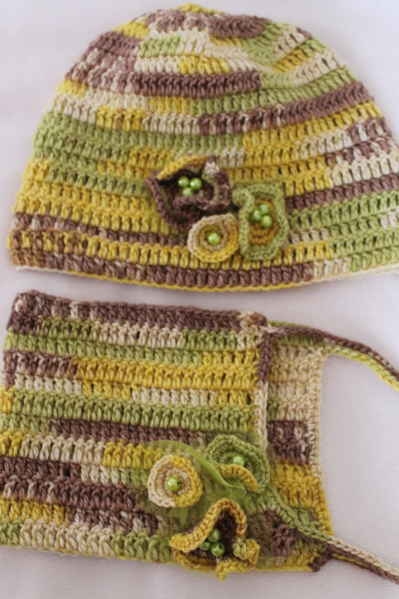 Boho Colorful Crochet COMBO  Set of  Hat Scarf Cowl Long Gloves Beaded for Women Girl Ready to ship Winter Accessories