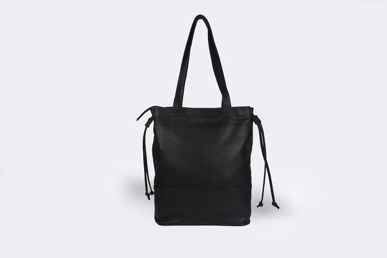 d4fe685d91 Easter Sale Black leather bag Black hobo bag Black laptop