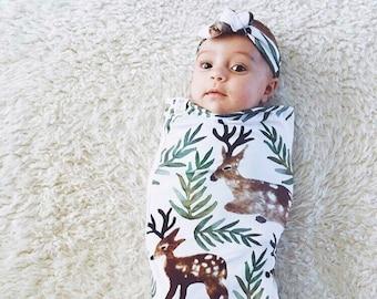 Deer, Elk, Swaddle Sack, Swaddle, Cocoon, Sleep Sack, Swaddle, Newborn, Headband, Top Knot, Cocoon swaddle, Cocoon sack, Newborn Photography