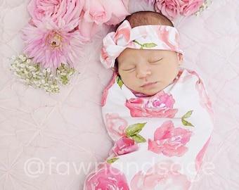 Rose, Swaddle Sack, Swaddle, Cocoon, Sleep Sack, Swaddle, Newborn, Top Knot, Cocoon swaddle, Cocoon sack, Baby swaddle