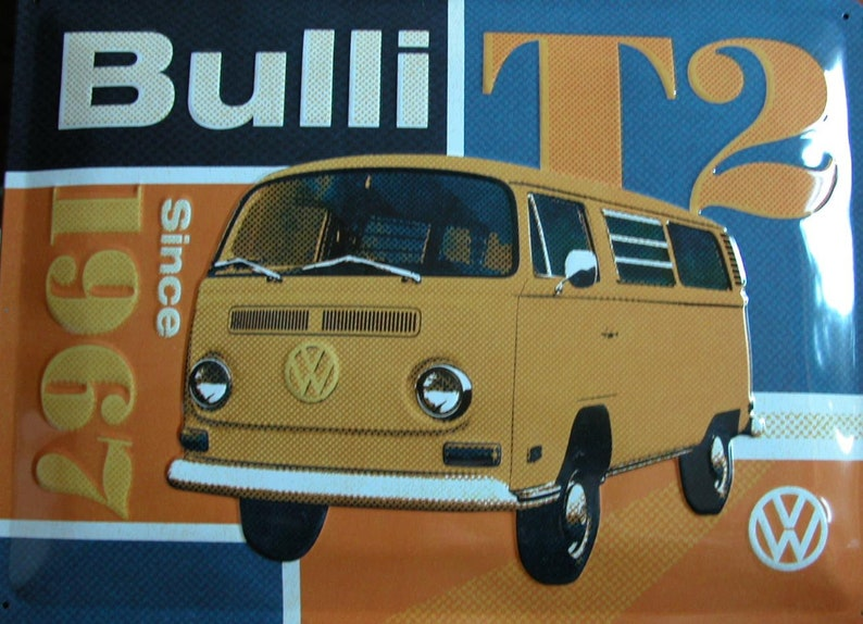 ccc3666929 Retro sheet metal shield Bulli VW Camper Van T2 1967