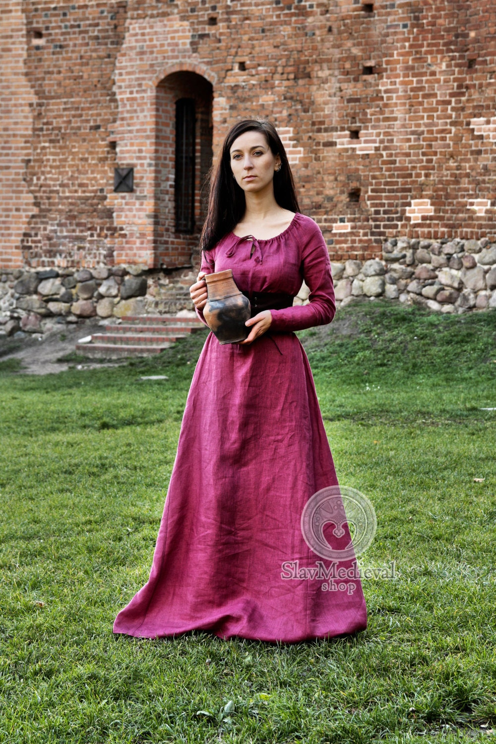 Linen dress Morgaine chemise fantasy medieval