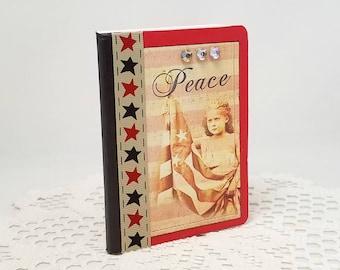 Peace Mini Journal - Mini Notebook - Patriotic Mini Journal - Americana Journal - Small Journal - Americana Notebook - Small Notebook