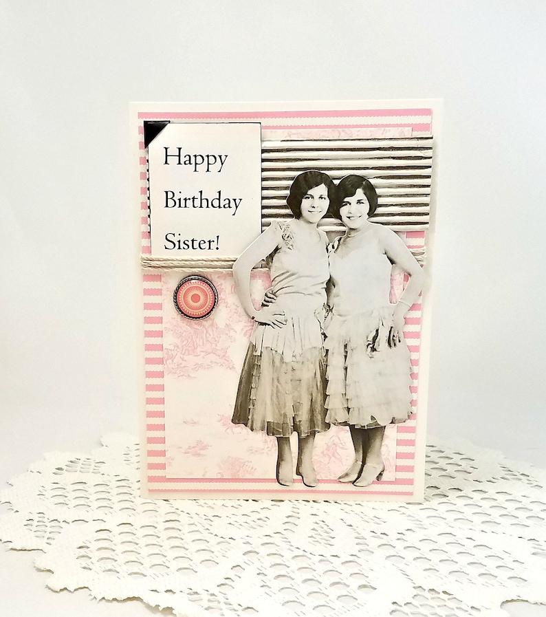 Sister Birthday Card Happy Birthday Sister Vintage