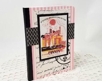 Film Festival Mini Journal - Cannes Film Festival - Vintage Cannes Journal - Mini Notebook - Mini Journal - Film Journal - Film Notebook