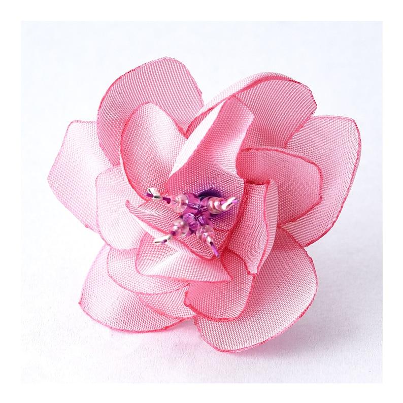 flower ring ring pink ring fabric flower pink flower