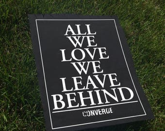 "Converge ""ALL WE LOVE.."" White Punk Rocker Backpatch"