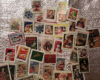 USA Christmas stamps, vintage