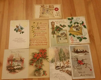 Vintage,  antique christmas cards and postcards from the early 1900's  group A