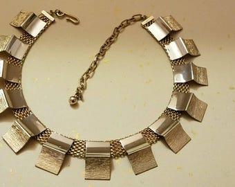 Vintage gold deco style necklace.