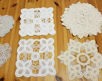 Lace dollies, lace appliques for sewing