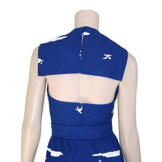 Vintage novelty sailor dress, 60s Malia pin up re… - image 8