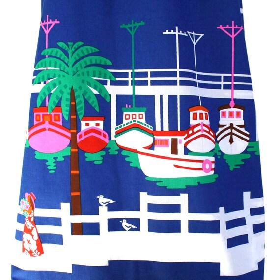 Vintage novelty sailor dress, 60s Malia pin up re… - image 3