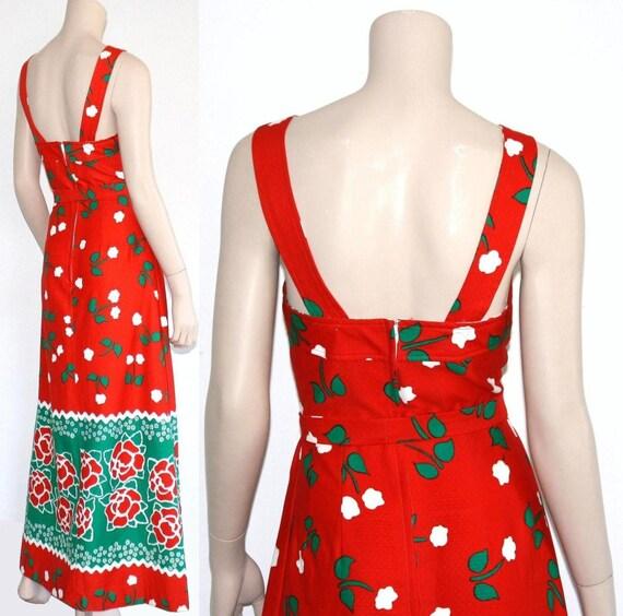 60s 70s Malia novelty Hawaiian maxi dress - xs or… - image 4