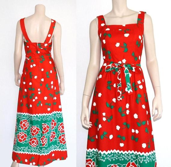 60s 70s Malia novelty Hawaiian maxi dress - xs or… - image 5