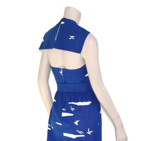 Vintage novelty sailor dress, 60s Malia pin up re… - image 10