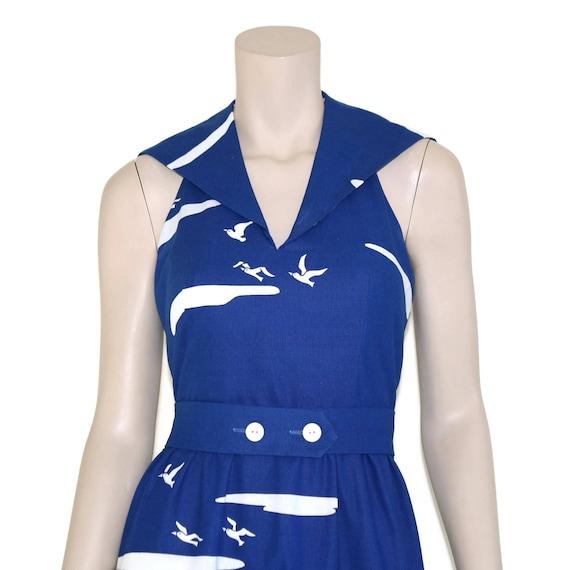 Vintage novelty sailor dress, 60s Malia pin up re… - image 2