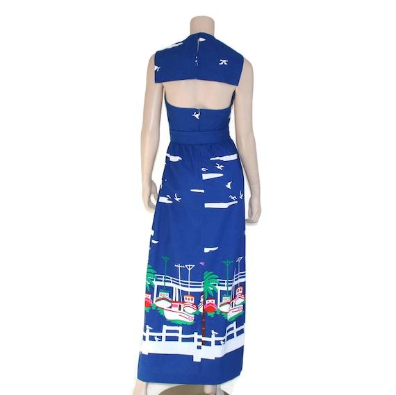Vintage novelty sailor dress, 60s Malia pin up re… - image 7