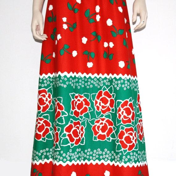 60s 70s Malia novelty Hawaiian maxi dress - xs or… - image 2
