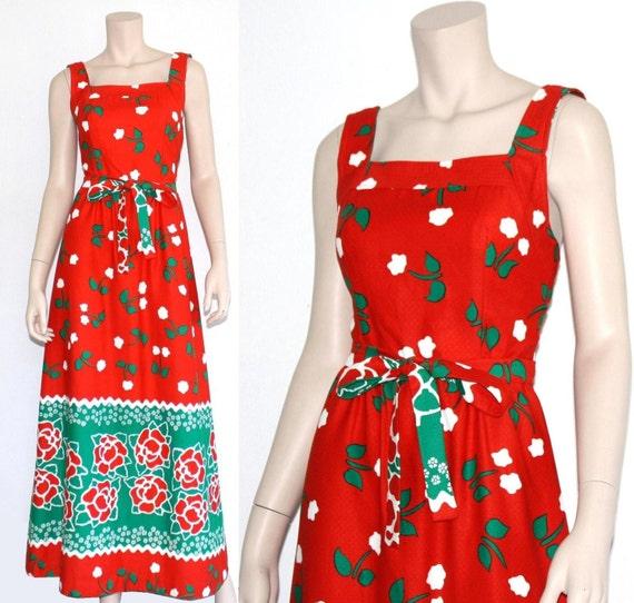 60s 70s Malia novelty Hawaiian maxi dress - xs or… - image 3
