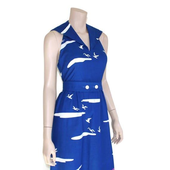Vintage novelty sailor dress, 60s Malia pin up re… - image 4