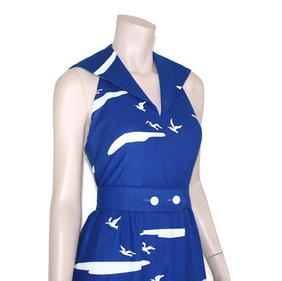 Vintage novelty sailor dress, 60s Malia pin up re… - image 6