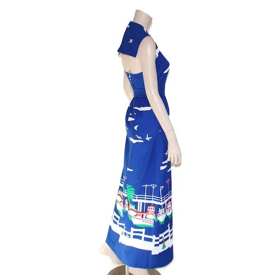 Vintage novelty sailor dress, 60s Malia pin up re… - image 9