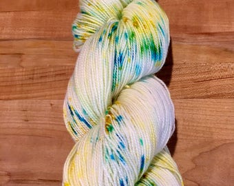 Hand-dyed High Twist Sock Yarn Spring Dreams Speckle