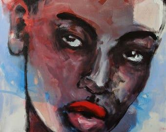 Large Modern Original Portrait - Acrylic Painting - Large Original Art - Modern Artwork - Contemporary Artwork - Male Portrait - Canvas Art