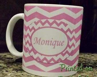 Personalized Custom Name Chevron Coffee Mug