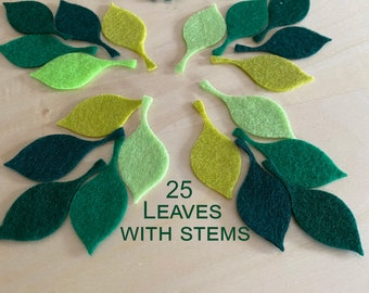 Felt die cut leaf for DIY and children creative projects 3 mm