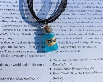 Zydrate Blue Glowing bottle necklace- Repo! The Genetic Opera