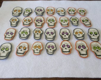 28 Halloween themed card stock embellishments, handmade, for card making, scrapbooking, paper crafting