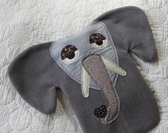 Hot water bottle cover/cozy/hottie animal - elephant