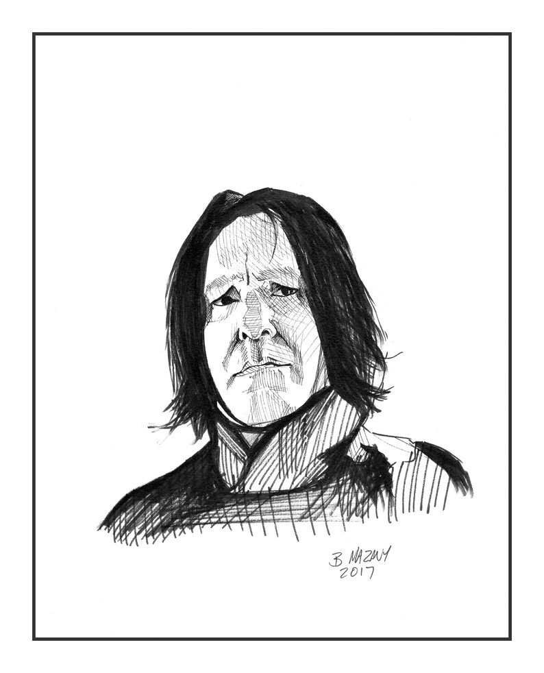 Severus Snape wall art print 11x14 Harry Potter Alan Rickman - Free  shipping to US