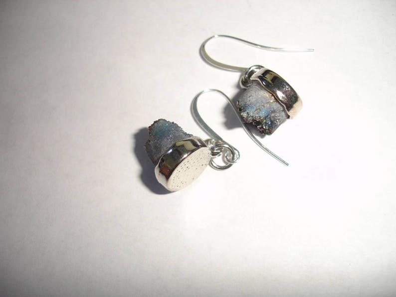 Grey Druzy Earrings Crystal Druzy Earrings Rainbow Earrings Gemstone Earrings Fancy earrings for Women Gift for Wife Gift for her Gift Idea