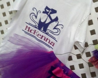 Ballet, dance tutu outfit, birthday dance outfit, PERSONALIZED