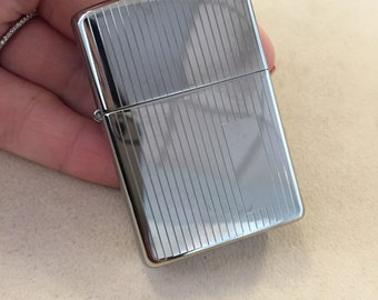 Sale Item: Zippo Engine Turned High Polish Chrome Lighter ***FREE SHIPPING