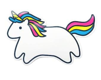 Baby Unicorn Vinyl Sticker - Die-Cut Weatherproof Glossy Decal - Cute Magical Illustration
