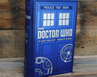 Book Safe - Doctor Who - Blue Tardis Leather Bound Hollow Book Safe