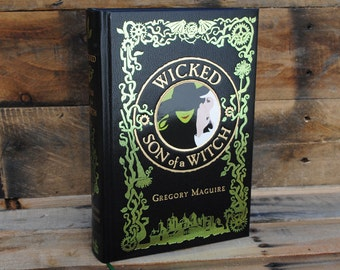 Book Safe - Wicked Son of a Witch - Leather Bound Hollow Book Safe