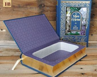 Book Safe - Le Morte d' Arthur - Leather Bound Hollow Book Safe