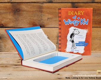 Hollow Book Safe - Diary of a Wimpy Kid - Book 1