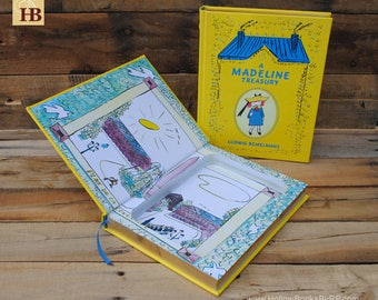 Book Safe - A Madeline Treasury - Leather Bound Hollow Book Safe