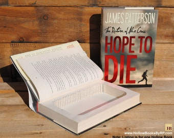 Hollow Book Safe - James Patterson - Hope to Die - Hollow Secret Book
