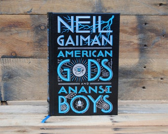 Book Safe - American Gods - Black Leather Bound Hollow Book Safe