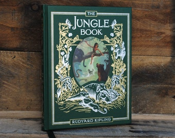 Book Safe - The Jungle Book - Green Leather Bound Hollow Book Safe