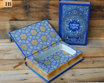 Book Safe - Arabian Nights - Leather Bound Hollow Book Safe