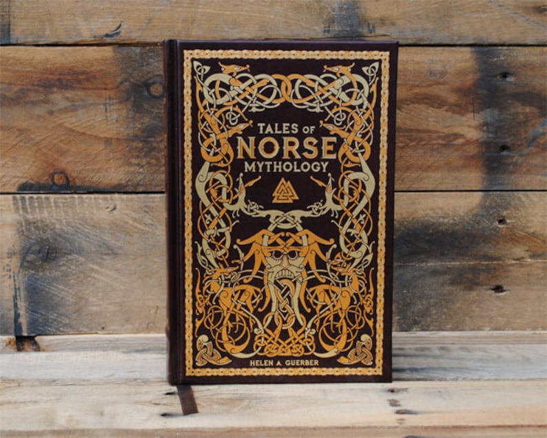 Hollow Book Safe - Tales of Norse Mythology - Leather Bound (FS59S)