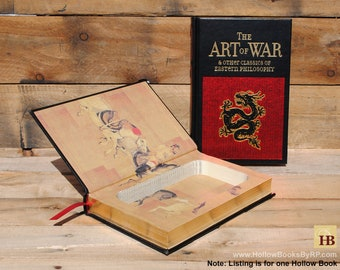 Hollow Book Safe - The Art of War - Black Leather Bound (FS50S)
